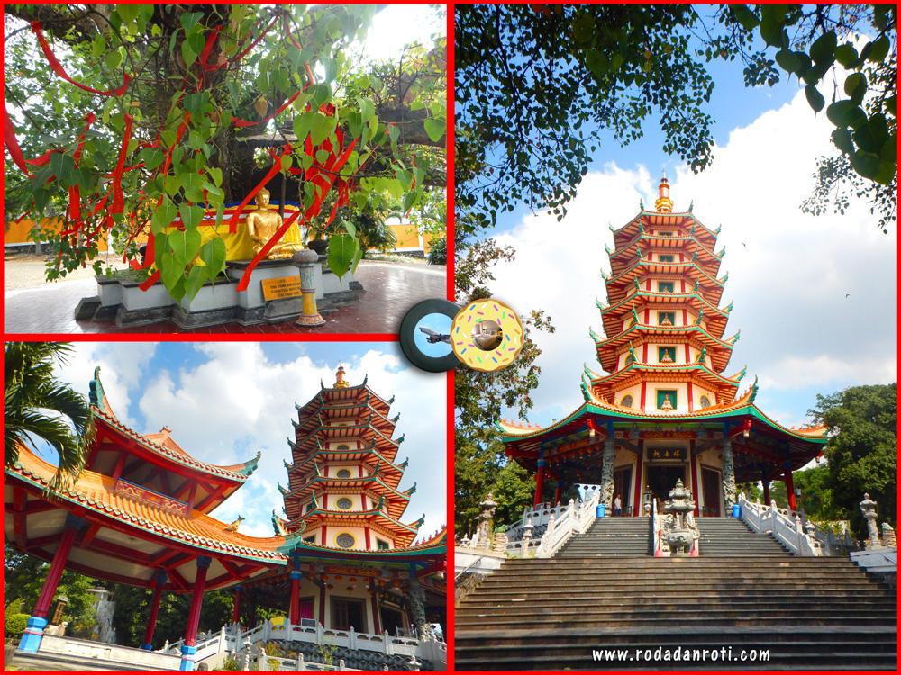 Pagoda Avalokitesvara Watugong Semarang Roda Roti Klenteng Kab