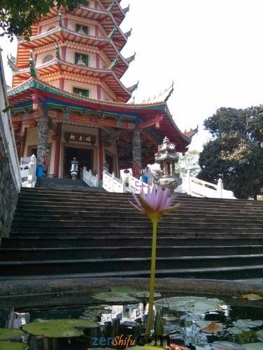 Teratai Ungu Pagoda Avalokitesvara Semarang Places Visit Klenteng Kab