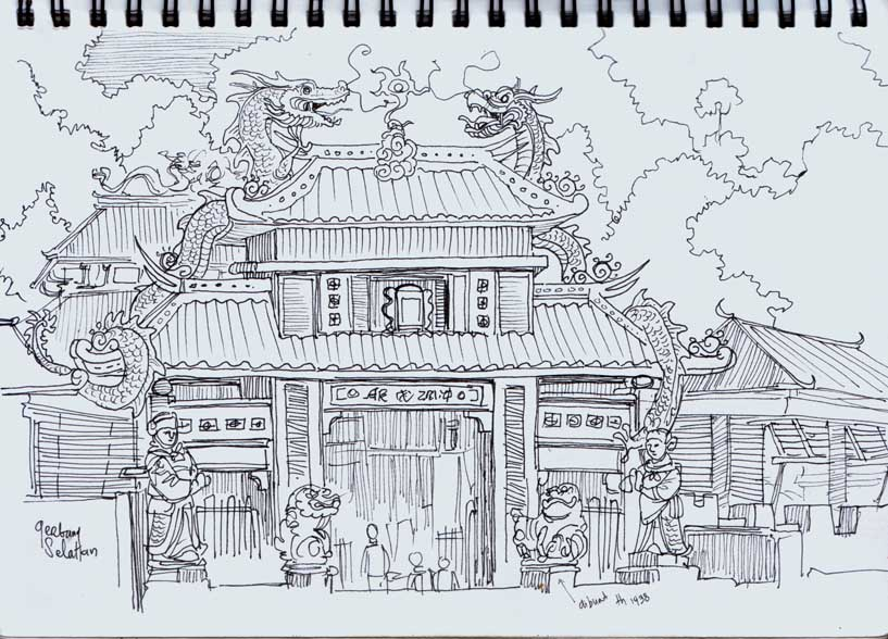 Sam Poo Kong Temple Semarang Central Java Urban Sketchers Klenteng