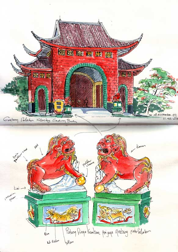 Sam Poo Kong Temple Semarang Central Java Urban Sketchers North