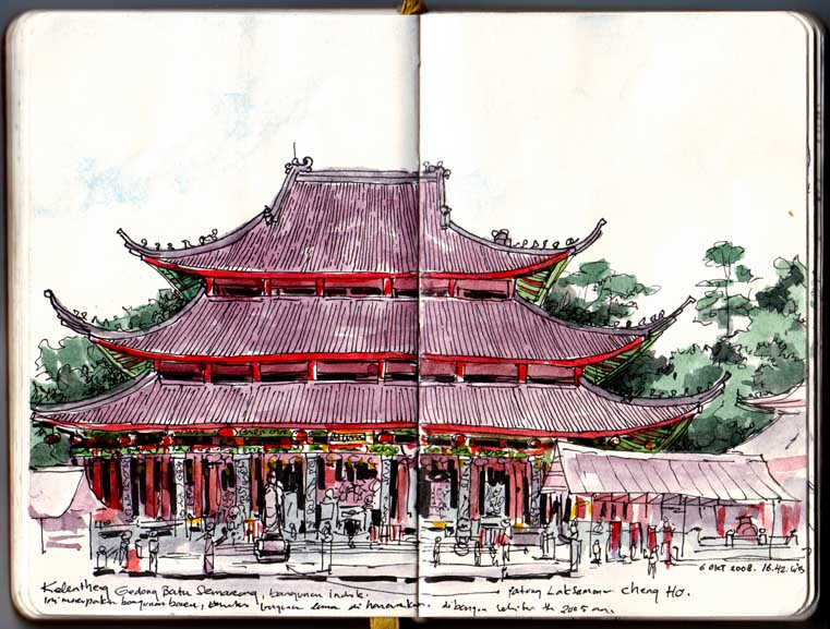 Sam Poo Kong Temple Semarang Central Java Urban Sketchers Present