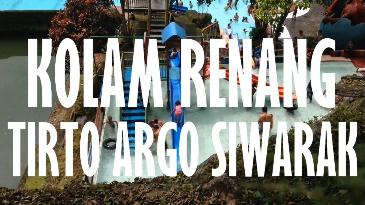 Kolam Renang Tirto Argo Siwarak Kogan 4k Youtube Kab Semarang