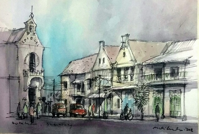 International Semarang Sketchwalk 2016 Urban Sketchers Kota Kab