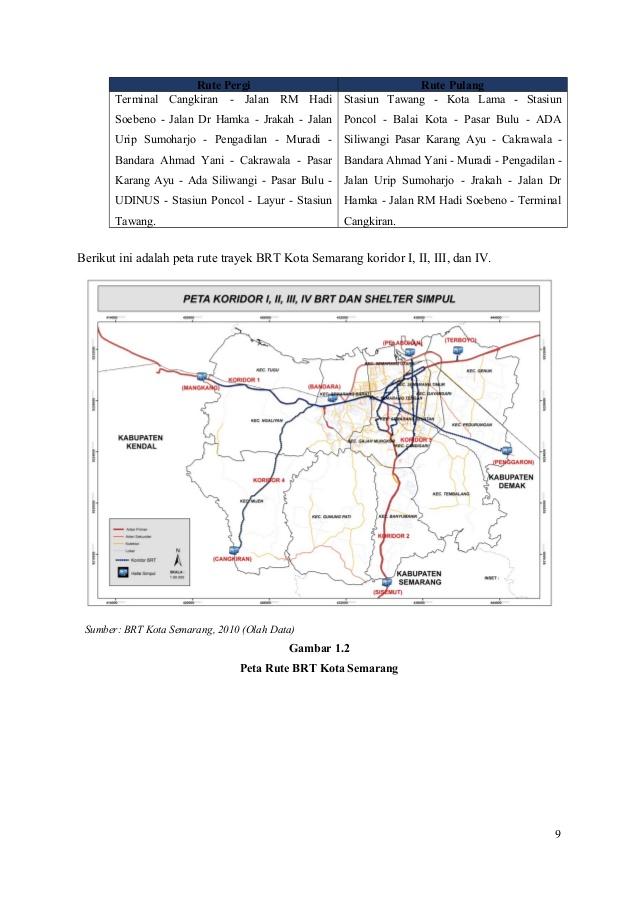 Perencanaan Brt Kota Semarang 9 Kab