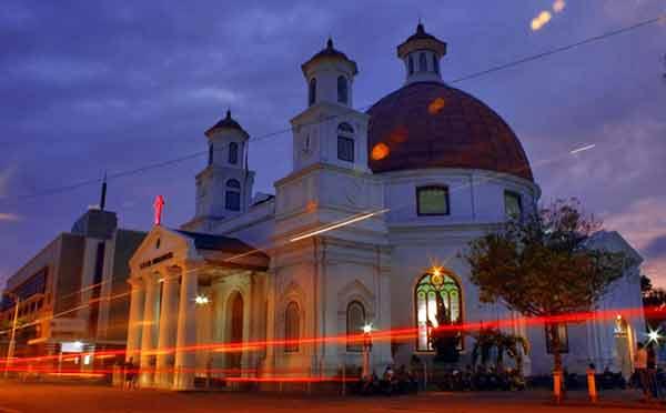 Wisata Religi Gereja Blenduk Kota Semarang Jawa Tengah Kab