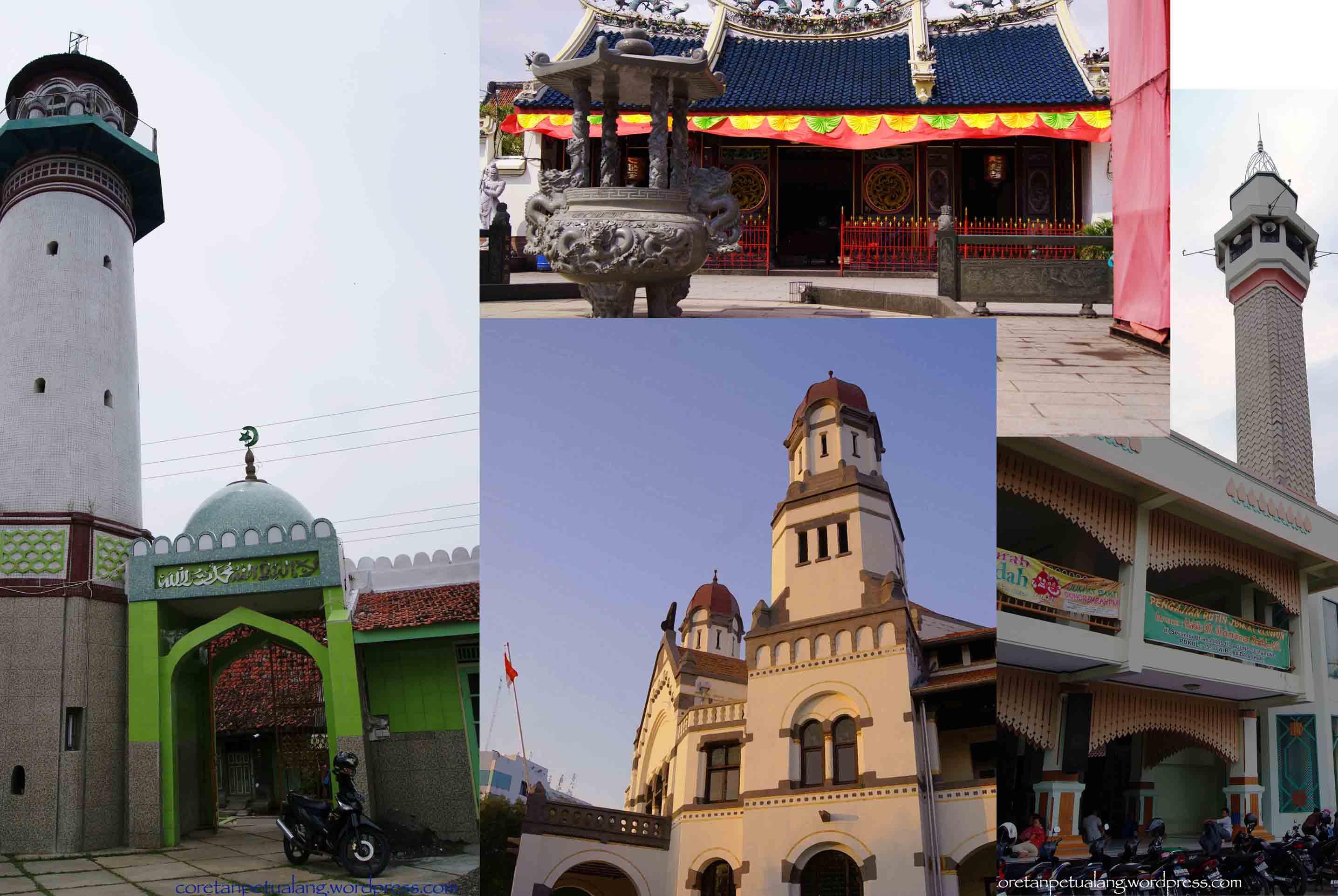 Places Semarang Coretanpetualang Blog Masjid Menara Kauman Lawang Sewu Klenteng
