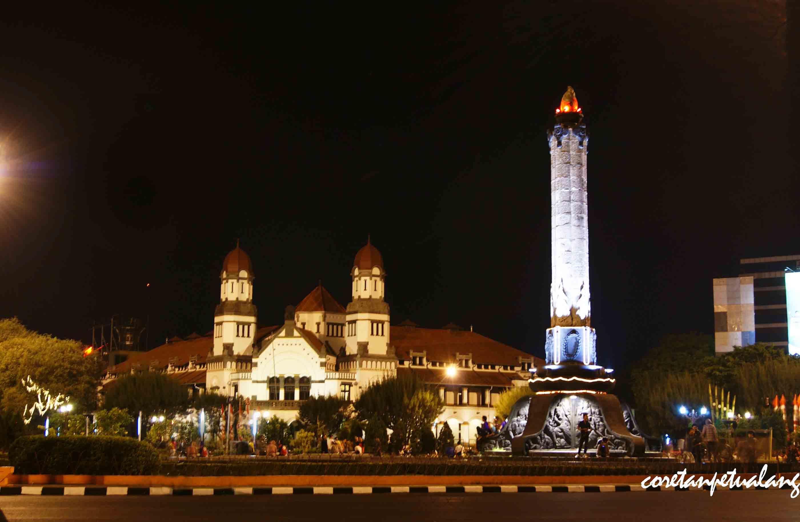 Tugu Muda Semarang Malam Hari Lawang Sewu Kab