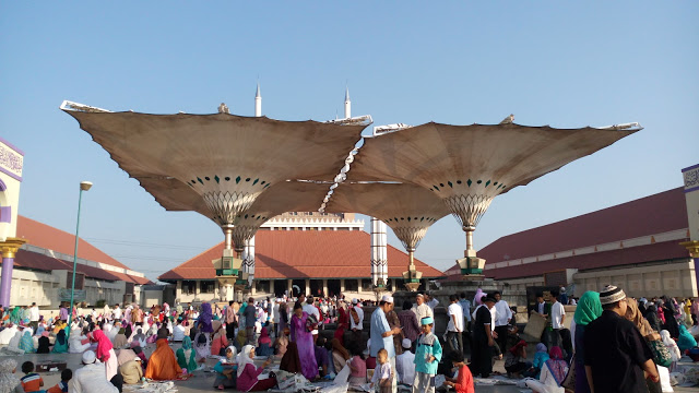 Bentuk Payung Raksasa Masjid Agung Jawa Tengah Dibuka Kab Semarang