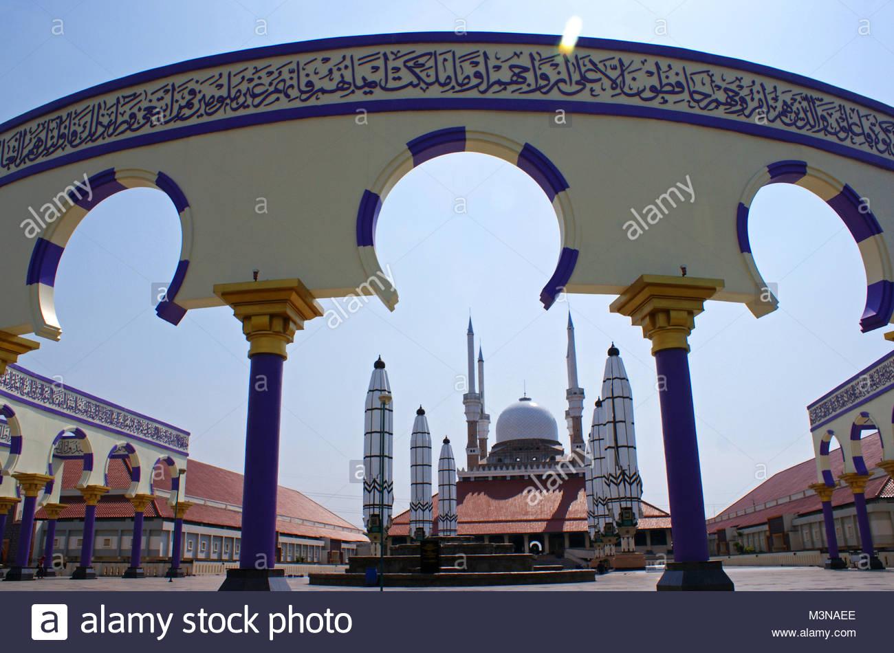 Jawa Tengah Stock Photos Images Alamy Masjid Agung Semarang Central