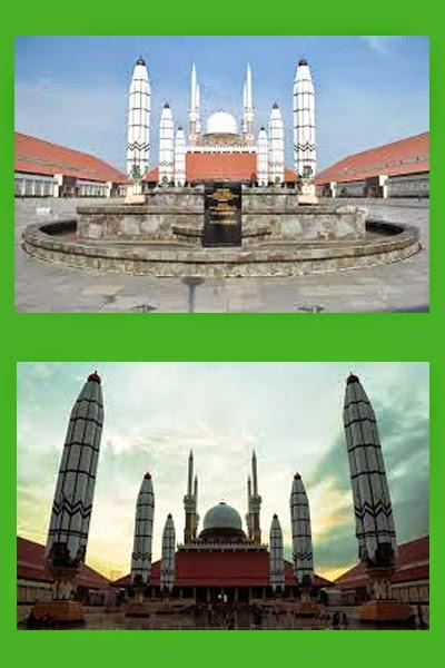 Masjid Agung Jawa Tengah Majt Semarang Semarangan Masuk Salah Satu