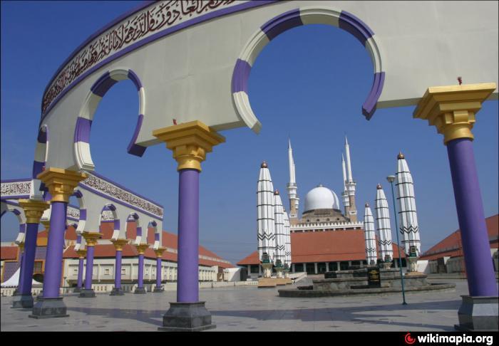 Masjid Agung Jawa Tengah Semarang Arsitektur Megah Gambar Kab