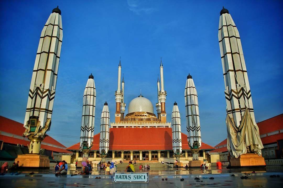 Masjid Agung Jawa Tengah Tempat Iseng Pinterest Semarang Islam Semarangislammuslim
