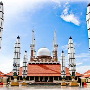 12 Foto Masjid Agung Jawa Tengah Majt Semarang Malam Hari