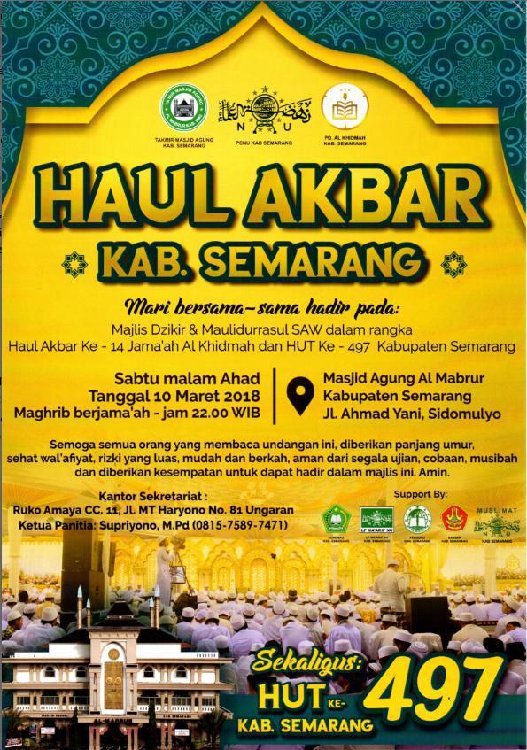 Hut Kabupaten Semarang 492 Masjid Agung Ungaran Kab