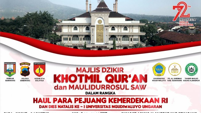 Masjid Agung Al Mabrur Kabupaten Semarang Gelar Khotmil Quran Kebangsaan