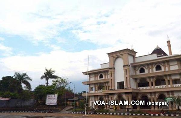 Provokatif Natalan Digelar Lapangan Masjid Agung Ungaran Voa Islam Kab