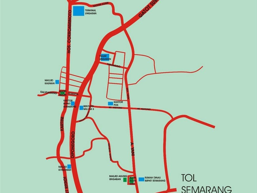 Traveling Peta Kota Ungaran Kabupaten Semarang Masjid Agung Kab