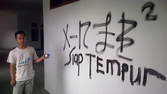 Tulisan Allah Masjid Agung Ungaran Lenyap Diduga Ulah Geng Kompas