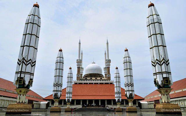 Wallpaper Masjid Agung Jawa Tengah Semarang Photograph Ungaran Kab