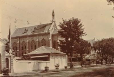 Foto Semarang Tempo Dulu Media Bangunan Biara Katholik Masjid Kauman
