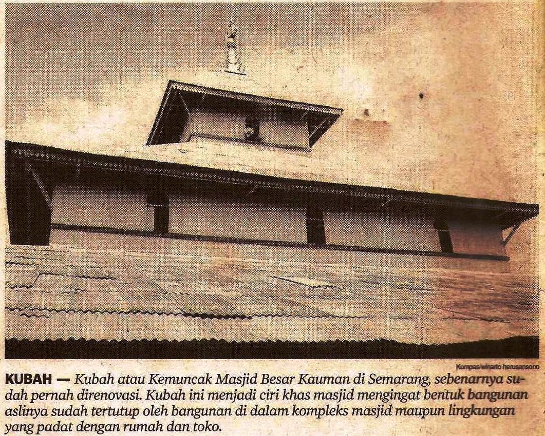 Maslahat Sejarah Pendahuluan Masjid Agung Semarang Kauman Kab