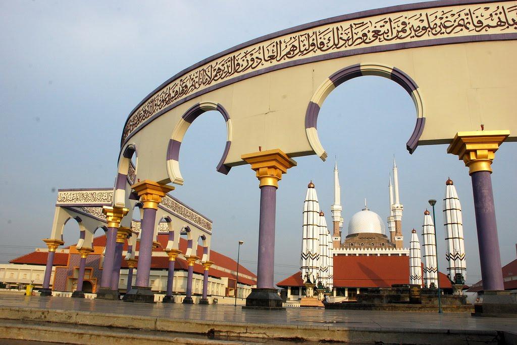 Wisata Religi Masjid Agung Jawa Tengah Kota Semarang Dinding Kauman