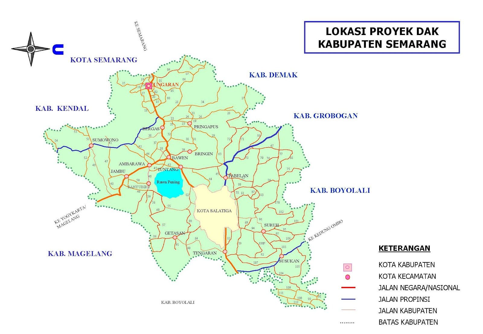 Peta Kota Kabupaten Semarang Museum Kereta Api Ambarawa Kab