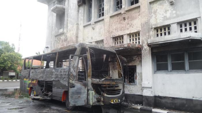 Kondisi Museum Mandala Bhakti Setelah Bus Dedy Jaya Terbakar Parkiran