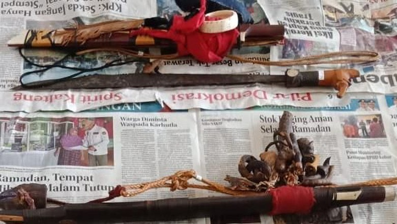 Mandau Sakral Tambah Koleksi Museum Balanga Kalteng Dua Polri Kab