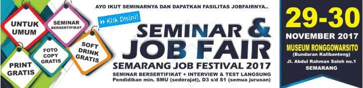 Job Fair Semarang 29 30 November 2017 Museum Ronggowarsito Kab