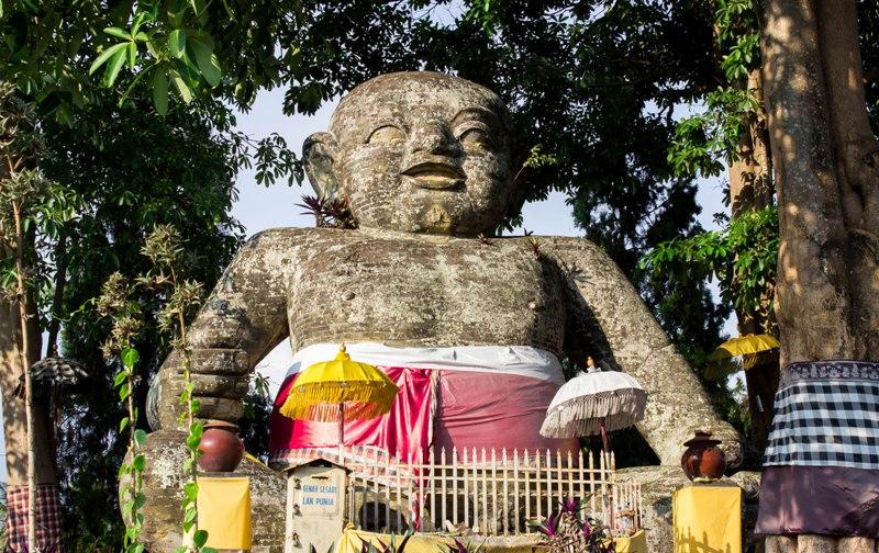 Indonesia Patung Brahma Lerare Lord Statue Infant Bali Pura Giri