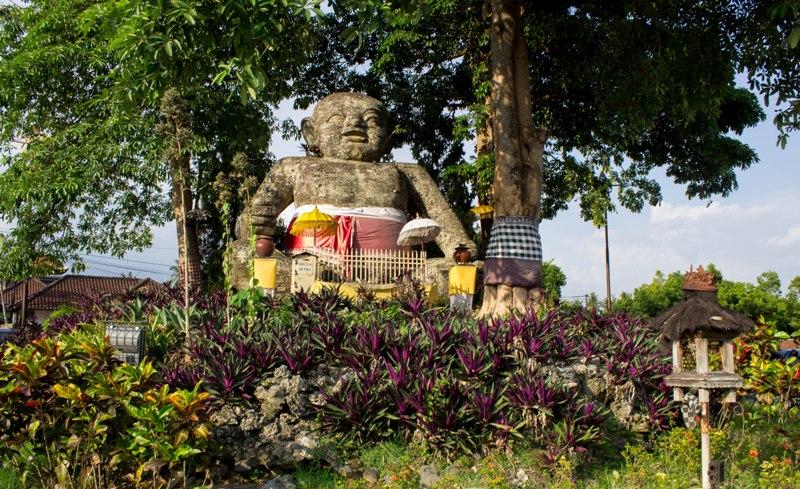 Indonesia Patung Brahma Lerare Lord Statue Located Tigers Sakah Blahbatuh