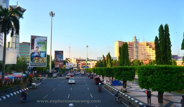 Kawasan Simpang Lima Explore Semarang Jalan Simpanglima Senja Kala Kab