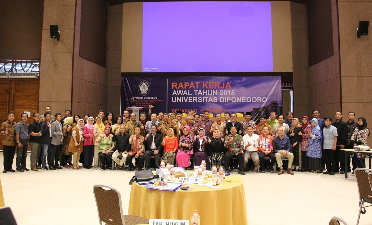 Rakerta 2018 Jpg Undip Establish Step Annual Meeting Taman Diponegoro