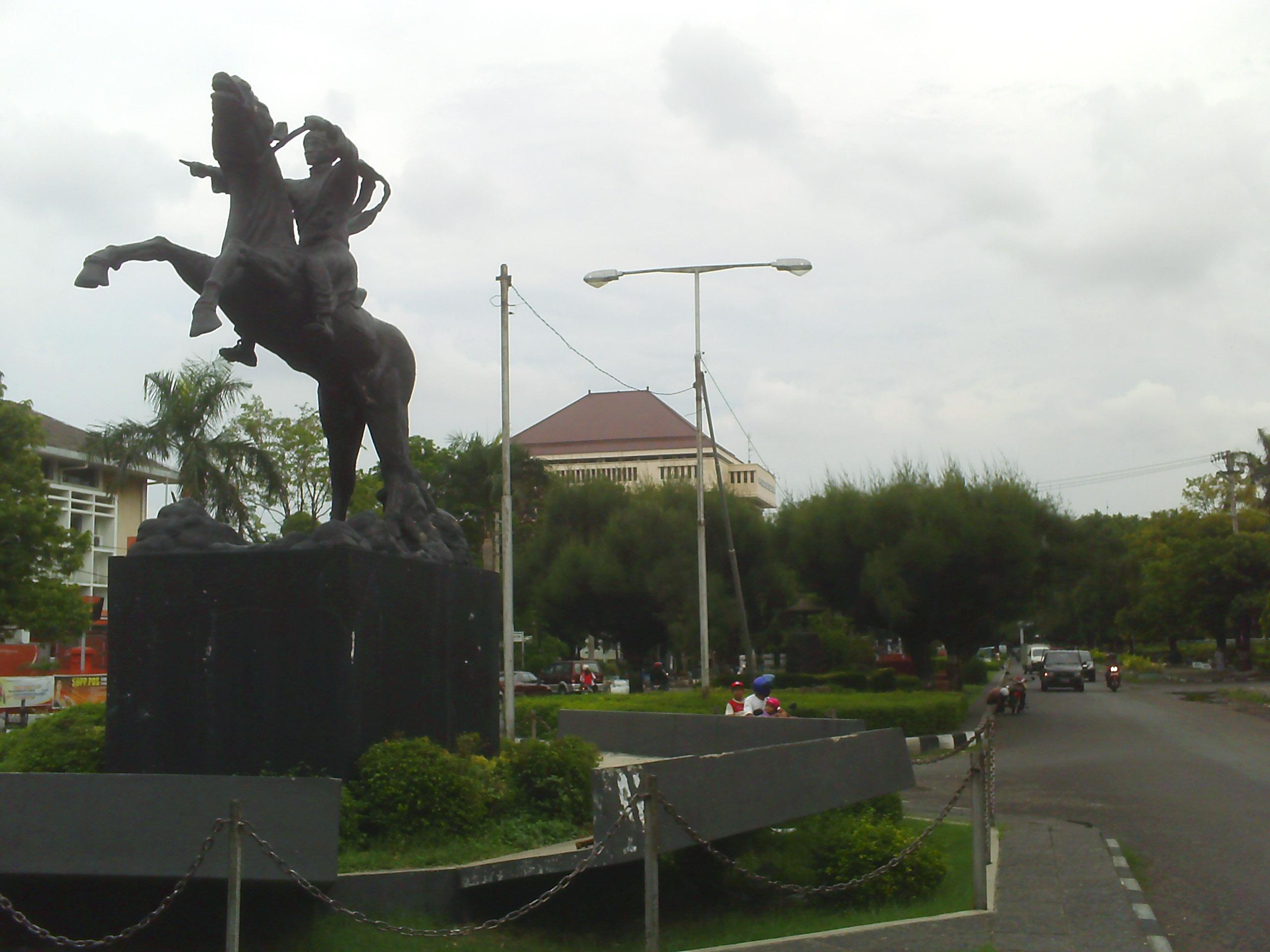 Semarang Picture Jalan Simpang Lima Patung Pangeran Diponegoro Taman Kab