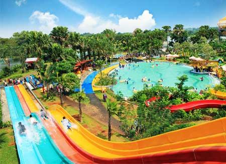 12 Wahana Water Kingdom Mekarsari Keren Fountain Park Kab Semarang