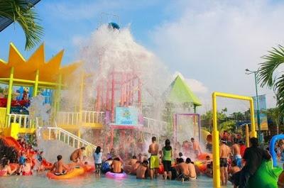 Tips Holiday Tempat Wisata Semarang Waterpark Fountain Water Park Kab