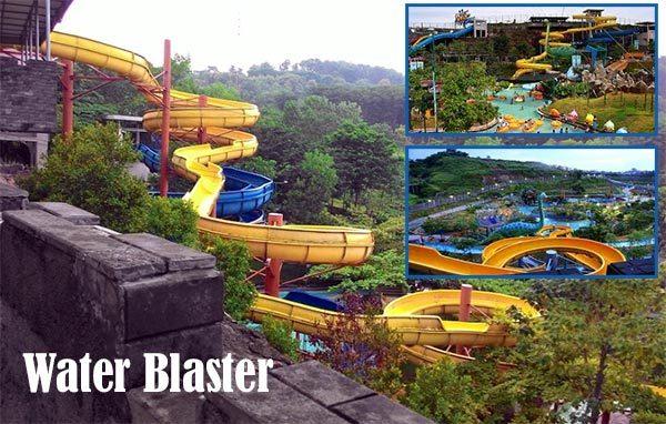 Wahana Wisata Permainan Air Waterpark Kota Semarang Kanal Water Blaster