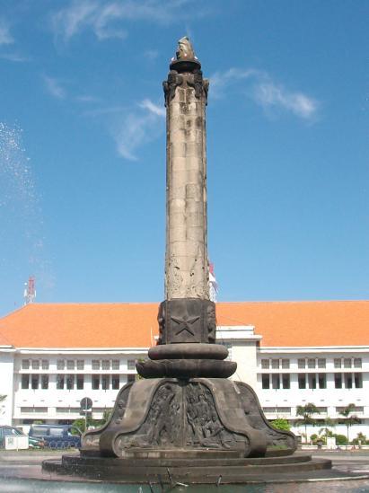 Semarang Andhian Blog Tugu Berpenampang Segi Lima Terdiri Bagian Landasan
