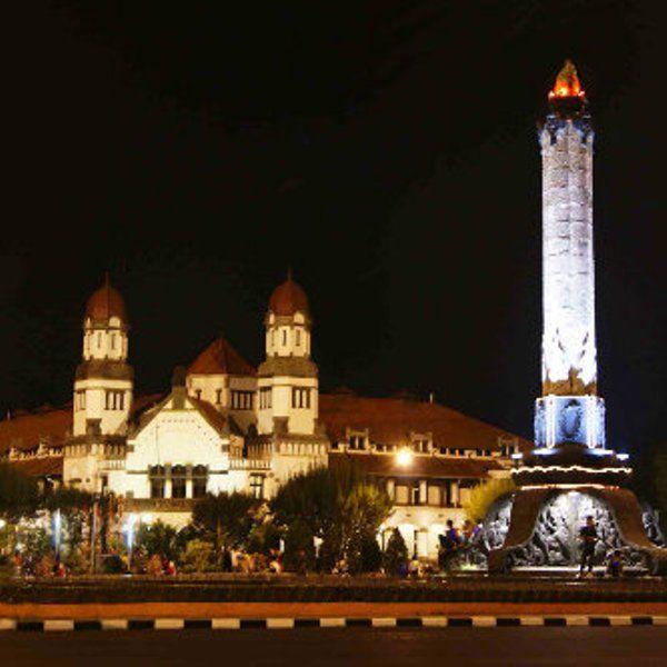 Tugu Muda Lawang Sewu Building Semarang Central Java Indonesia Kab