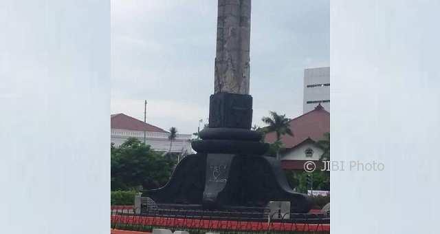 Vandalisme Sasar Tugu Muda Semarang Picu Kemarahan Warga Coretan Kota