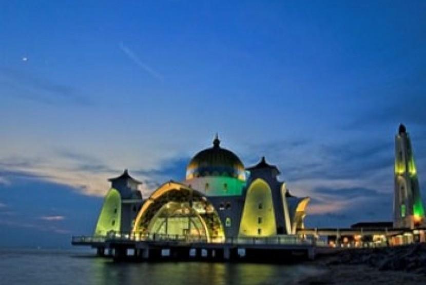 Banten Bangun Masjid Terapung Anyer Republika Online Ilustrasi Agung Kab