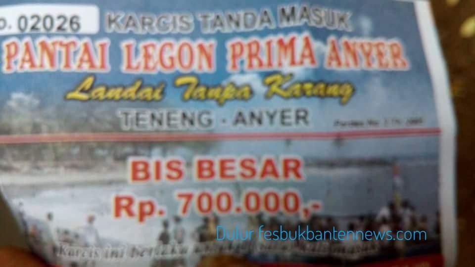Duh Tiket Parkir Wisata Pantai Anyer Rp700 Ribu Fesbukbantennews Legon