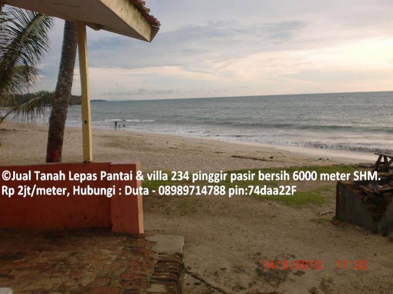 Villa Dijual Tanah Pinggir Pantai Anyer Pasir Bersih Lepas 234