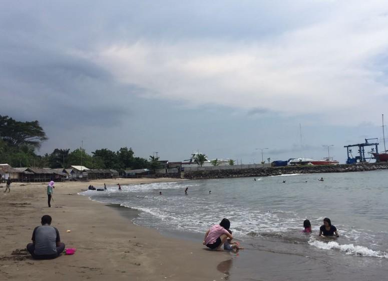 Destinasti Objek Wisata Pantai Jambu Bulakan Serang Banten Keindahan Kab