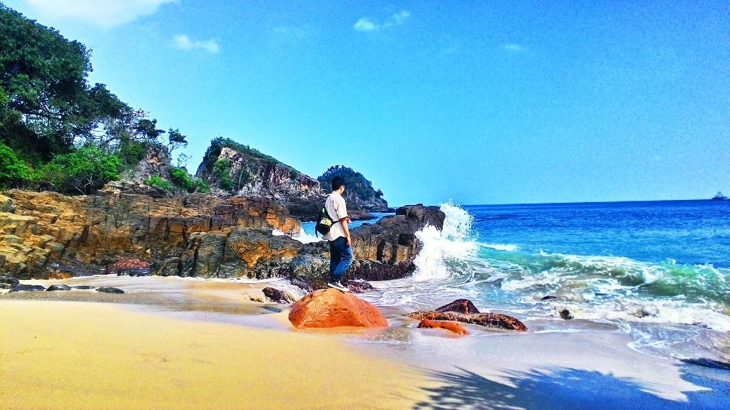 Wisata Pasir Putih Misteri Pantai Marina Lampung Kab Serang