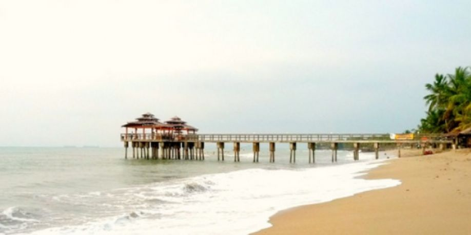 Banten Deretan Pantai Menuju Tanjung Lesung Pasir Putih Florida Kab