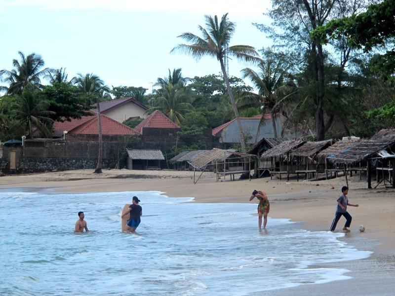 Pantai Carita Anyer Cantiknya Pasir Putih Banten 1 Florida Kab