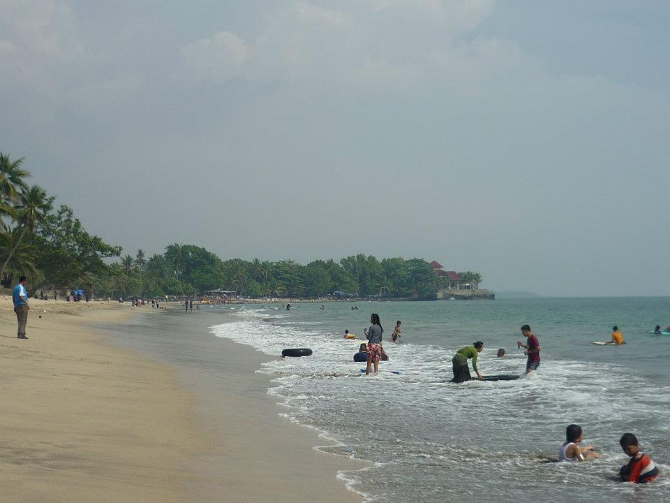 Pantai Pasir Putih Anyer Backpacker Koprol Daerah Terletak Bagian Barat