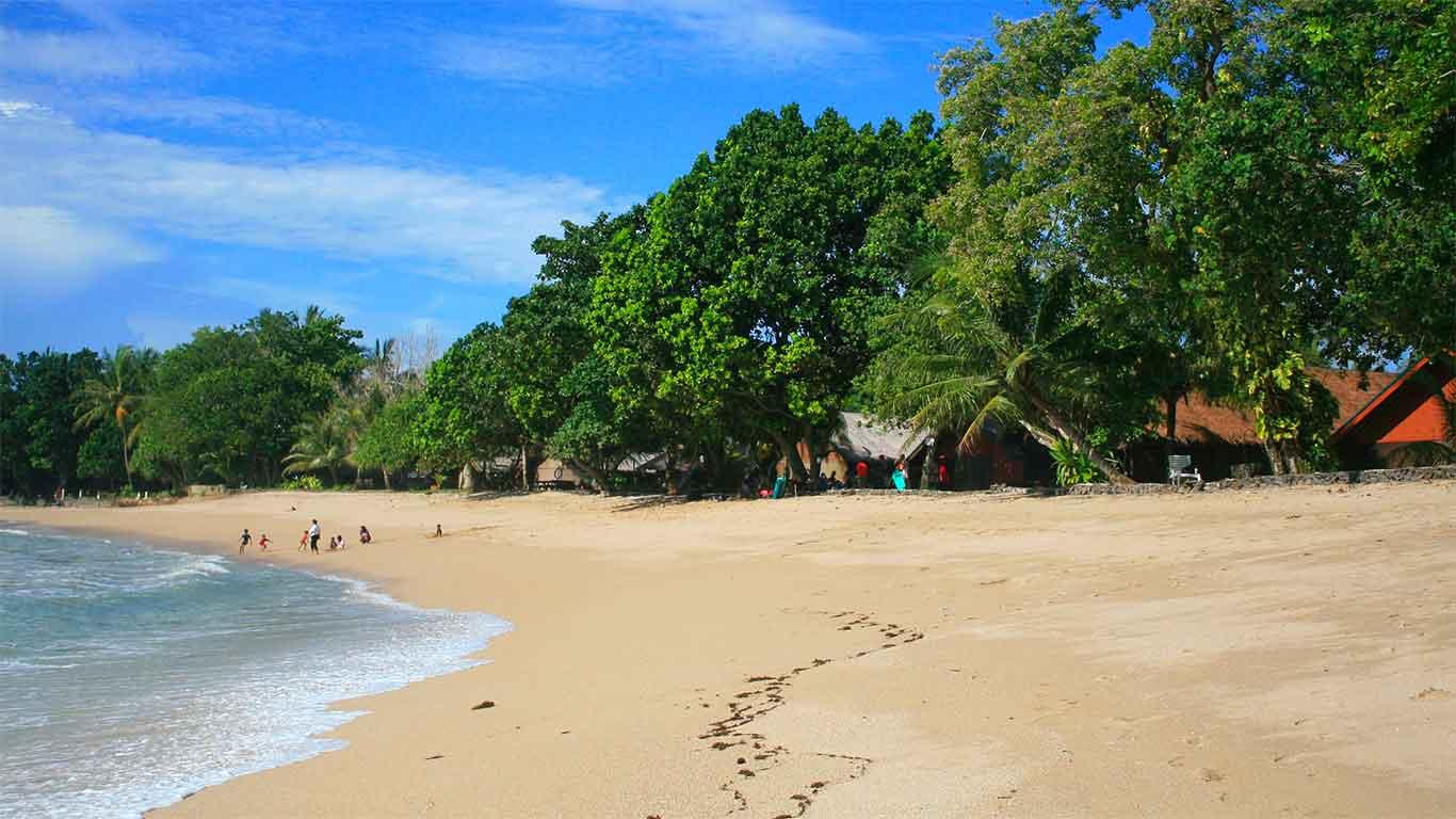 Pantai Sambolo Anyer Banten Pasir Putih Mempesona Florida Kab Serang